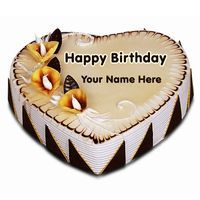 Write Name on Fig and Honey Birthday Cake Online