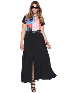 Front Slit Maxi Skirt | Women's Plus Size Skirts | ELOQUII