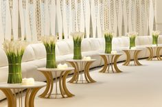 Design Lab Events - Simply lovely event decor with Calla Lilies, white lounge furniture and clean lines!