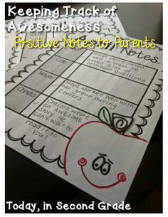 Keeping Track of Awesomeness - Positive Notes to Parents