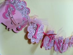 Its a Girl Baby Banner Elephant Baby Banner Pink by BigOrangeTabby, $24.00