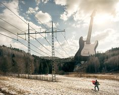 "Title: ""Electric Guitar."" Erik Johansson: ""Doing montages are just like painting. The difference is that the photos are your colors and the canvas is in the computer."""