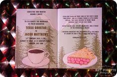 Twin Peaks wedding invitation