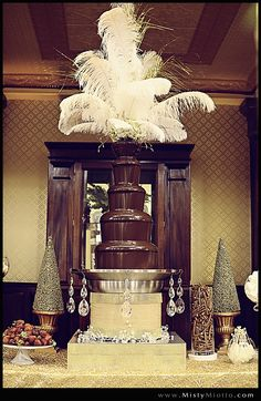 #Chocolate Fountain | All That Glitters is #Gold | Great #Gatsby Inspired Shoot | The Ballroom at Church Street | Photography by @Misty Miotto