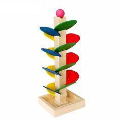 Montessori Educational Toy Blocks Wooden Tree Marble Ball Run Track Game Baby Kids Children Intelligence Wooden Baby Toys Montessori Toys, Preschool Toys, Baby Games, Games For Kids, Marble Ball, Best Educational Toys, Wooden Baby Toys, Building Blocks Toys, Tower Building