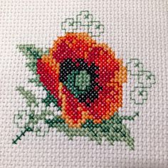 Cross Stitch Boards, Cross Stitch Art, Cross Stitch Flowers, Cross Stitch Embroidery, Hand Embroidery, Bargello, Mini, Cross Stitch Patterns, Poppies