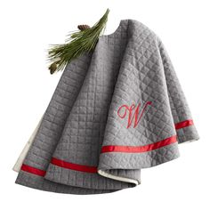 monogrammed and quilted tree skirt