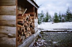 """""""The leaves fall, the wind blows, and the farm country slowly changes from the summer cottons into its winter wools. Winter Cabin, Cozy Cabin, Winter Mountain, Mountain Living, Winter Snow, Country Life, Country Living, Cabins In The Woods, Winter Is Coming"""