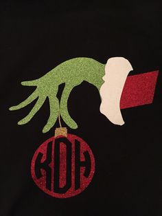 A personal favourite from my Etsy shop https://www.etsy.com/listing/214574085/grinch-hand-with-round-initials