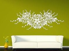 Wall Vinyl Sticker Decal Ornament Floral Pattern Flower Bud Drops (n306)