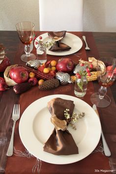#place setting #autumn #fall #decorating #tablescape #tablesetting #Thanksgiving