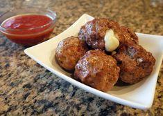Cheese Stuffed Meatballs A La Pizzaiola Recipe Video by Thindulge Low Sodium Recipes, Gf Recipes, Low Calorie Recipes, Cookbook Recipes, Greek Recipes, Baking Recipes, Snack Recipes, Delicious Recipes, Recipies