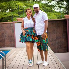 Ankara Fashion Inspiration: These Short Ankara Dresses Will Surely Stand you out. Couples African Outfits, Couple Outfits, African Attire, African Wear, African Dress, African Style, African Dashiki, African Clothes, African Women