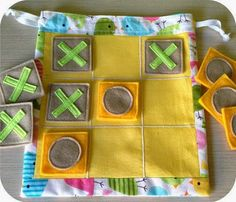 Items similar to Fabric Tic Tac Toe travel game for kids. Handmade yellow tic tac toe set with funny birds. Kids Crafts, Felt Crafts, Fabric Crafts, Sewing Crafts, Operation Christmas Child, Sewing Projects For Kids, Sewing For Kids, Fabric Toys, Gifted Kids