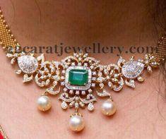 Simple Diamond necklace cum armlet/vanky