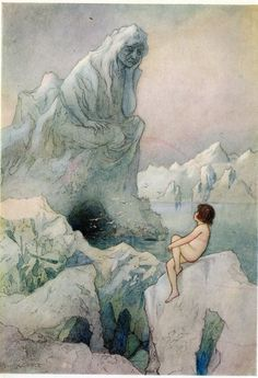 Artwork by Warwick Goble (1862-1943). English illustrator of children's books.