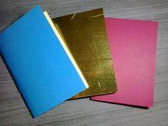 Caderninho de bolsa (tamanho A6), com costura borboleta