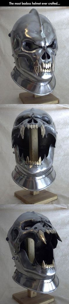 This helmet is so MORDRED I want to use it in our next Pendragon game - Fully Functional Demon Helmet