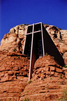 Meditation Chapel built into the Red Rock Mesas of Sedona, AZ.  Such a beautiful place!