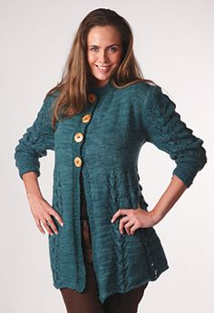 Manitoba Swing Jacket in Manos del Uruguay Clasica,  Wool Space-Dyed.  FREE
