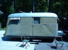 Vintage traileritis 1938 covered wagon