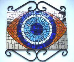 Olho Grego com espelhos. De Lucano Mosaico.