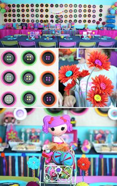 "Lalaloopsy party by Soiree Event Design featuring exclusive ""Cute As A Button"" printables available at Soiree-EventDesignShop.com"