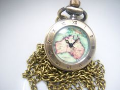 Ladies Australia Pendant Watch Necklace