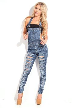jean overall shorts for women | MOGAN Vintage Destroyed DENIM ...