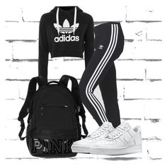 """""""Three Brand Gang"""" by vannah258 ❤ liked on Polyvore featuring adidas, Victoria's Secret and NIKE"""