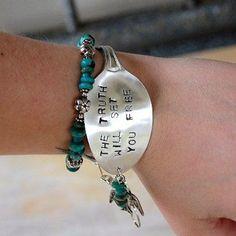 Stamped Spoon Bracelet