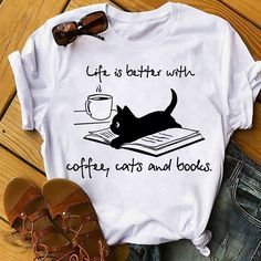 Check this Life is better with coffee cats and books Long Sleeve T-Shirt- Gift Trending Design T Shirt . Hight quality products with perfect design is available in a spectrum of colors and sizes, and many different types of shirts!