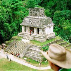 Mayan Ruins at Palenque, Mexico.