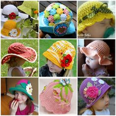 FabArtDIY Crochet Summer Sun Hat Free Pattern fb