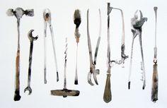 Tools #watercolor #aquarel #illustration #art #draw #drawing #graphic #sketch #sketching