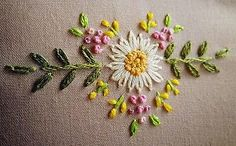 Flower motif embroidery