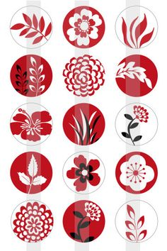 Flora and Fauna 2 red white and Black one por creativexpressions1