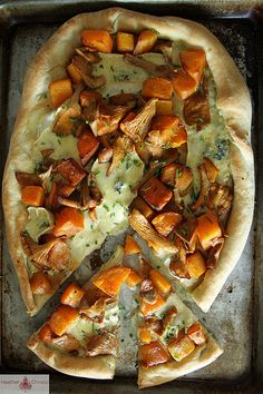 Butternut Squash, Chantrelle and Brie Pizza by Heather Christo, via Flickr