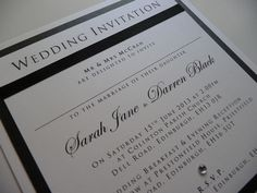 Traditional Black and White Wedding invitations