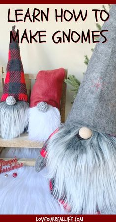 Learn How to Make Gnomes - - Learn to how make your own DIY Christmas gnomes. Tutorial for no sew sock version as well as DIY gnomes using simple sewing. Diy Centerpieces, Christmas Centerpieces, Decorations, Diy Crafts For Kids, Holiday Crafts, Dyi Crafts, Snowman Crafts, Craft Ideas, Holiday Ideas