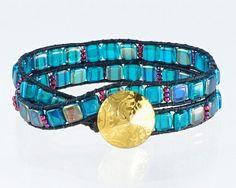 Jewelry KIT:  Wrap Bracelet beads leather by BellinghamBeadBazaar