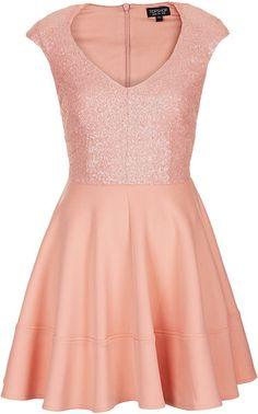 Topshop Sequin Bodice Dress