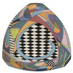 """Dorothy Hafner """"Flash One"""" porcelain triangular platter for Rosenthal, 1984"""