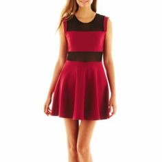 Olsenboye Mesh-Accent Illusion Dress