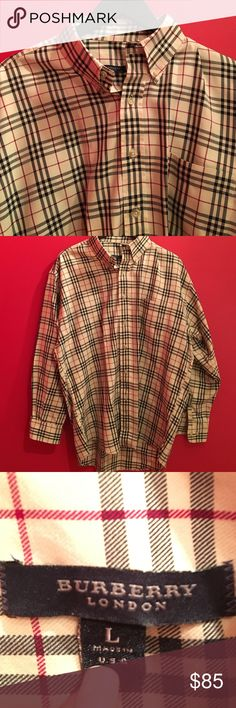 MENS L Burberry shirt In excellent condition. Freshly dry cleaned. Burberry Shirts Casual Button Down Shirts