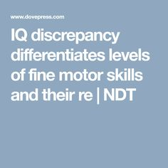 IQ discrepancy diffe