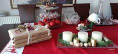 Christmas decoration on table#Χριστουγιεννιάτικη διακόσμηση τραπεζιού