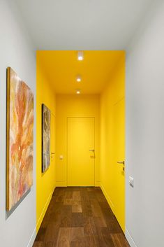 View the full picture gallery of Wellton Park Apartment Interior Design Inspiration, Home Interior Design, Interior And Exterior, Interior Decorating, Interior Design Yellow, Interior Walls, Room Colors, Hallway Colours, Colorful Interiors