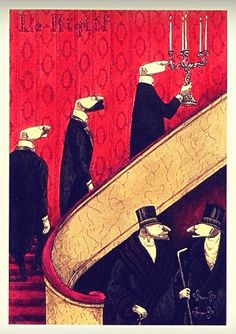 Gorey art: Check this gem out in person by taking a trip to visit the Edward Gorey House!
