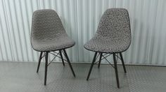 Eames Alexander Girard Upholstered Side Chairs